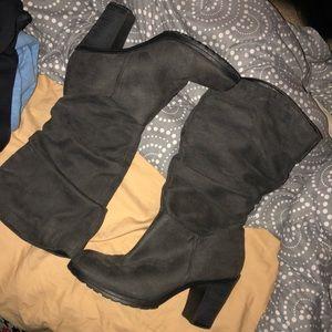 High Heel Boots (dark grey)